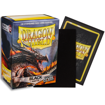 Dragon Shield Matte: Non-glare - Black Amina (100)