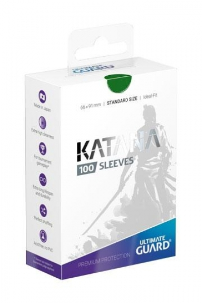 Ultimate Guard Katana Sleeves Standardgröße Grün
