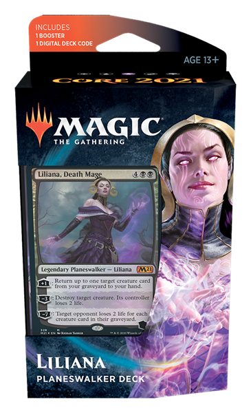 MTG - M21 Core Set Planeswalker Deck 5er-Set (engl
